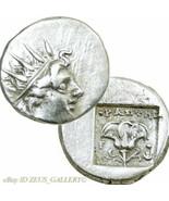 RHODES Helios, Rose crown of ISIS Ancient Greek Silver Plinthophoric Dra... - $251.10