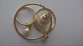 Authentic Christian Dior Mise En Dior Tribal Hoop Pearl Earrings  image 4