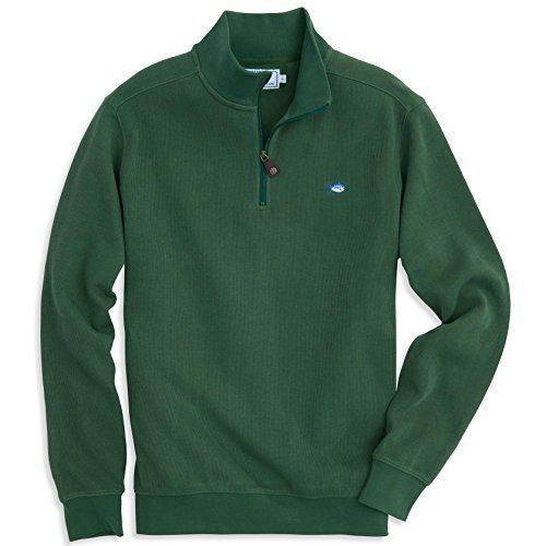 Southern Tide Men's Channel Marker Pique 1/4 Zip Pullover Sweater, XS