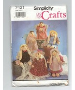 1991/Simplicity Sock Bunny Pattern #7421/UNCUT/Craft - $4.99