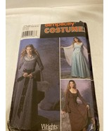 Renaissance Dress Simplicity Costume Sewing Pattern #9891 Size 6-12 Cosplay - $9.99