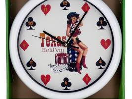 Vintage texas hold em wall clock - $40.00