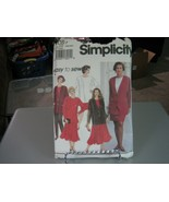 Simplicity 8081 Plus Size Skirts, Top & Unlined Jacket Pattern - Size 18... - $8.90