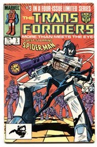 TRANSFORMERS #3 Black Costume Spider-Man!-comic book-1984-Marvel- - $27.74
