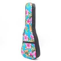 CLOUDMUSIC Hawaiian Hibiscus and Palm Ukulele Case Ukulele Backpack with... - $54.16