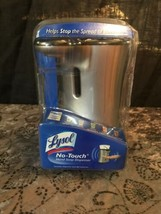 New LYSOL No Touch Automatic Hand Soap Dispenser Silver Stainless Anti-B... - $24.75