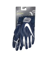 Nike Superbad Padded Protective Football Receiver Gloves Blue White GF06... - $34.99