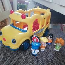 Fisher Price Little People School Bus Lights & Sounds 4 Figures - $18.80