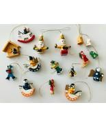 16 Mini Wood Christmas Ornaments Angels Bells Horses Skiers Santas Stabl... - $24.18