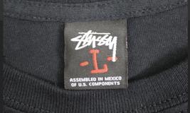 NWOT New Vintage Men's Stussy Brand Design Black Sz. L T-Shirt image 2