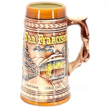 Vintage San Francisco Chinatown Cable Car Bridge Souvenir Stein Mug Made Japan