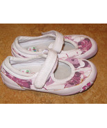 Clarks Doodles Sz 7.5 Kids Girls Toddlers Canvas Flower Pink Mary-jane S... - $10.99
