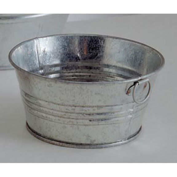 HOLIDAY CRAFT Galvanized Pot - 4 inches #6542