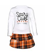 Unique Baby Girls Scary Cute Plaid Halloween 2 Piece Skirt Set (2t) - $25.99