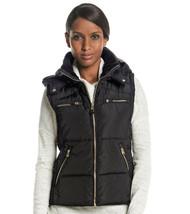 CALVIN KLEIN ~Size LARGE~ Zip-Pocket Puffer Black Vest Removable Hood Re... - $45.99