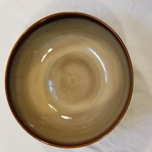 Sango Nova Brown 4933 Large Serving Bowl About 8 1/2 Inches Wide 3 Inches Tall - $19.79