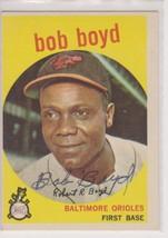 Bob Boyd (d. 2004) Signed Autographed 1959 Topps Baseball Card - Baltimo... - $29.99