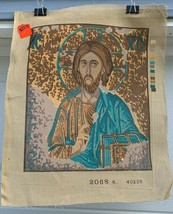 ​IC XC  Jesus Christ Conquers needlepoint canvas  vintage  - $15.00