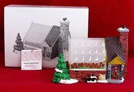 Vtg Dept 56 Snow Village Greenhouse Building Christmas Retired 1991 No L... - $29.69
