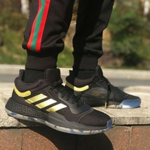 ADIDAS Men Basketball Marquee Boost Low Shoes Black / Gold Met - $170.49