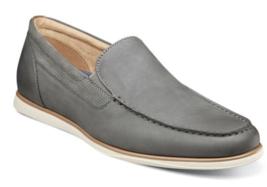 Mens Florsheim Atlantic Moc Toe Venetian Slip On Shoes Nubuck Gray 13316-020  - $105.00