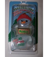 JAMES Personalized Solar Powered Snowman Ornament//Gift Tag NameStar NEW