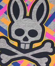 Men's Psycho Bunny Short Sleeve Heather Grey Tee Logo Graphic Shirt T-Shirt image 3