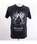 Assassins Creed Syndicate Video Game Black Graphic T Shirt Mens Sz M - $24.09
