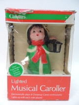 Carolites Lighted Musical Caroller RARE w Box 8 Carols Lights Up Ornamen... - $29.69