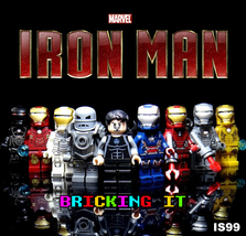 9 custom Marvel Iron Man minifigures compatibly with Lego Infinity War A... - $18.90