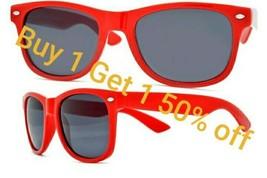 Red Classic Way Glare Blocking Polarized Sunglasses Spring Hinges UV400 - $9.40