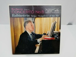 Beethoven Concerto No.5 Vinyl Record LP Rubinstein Krips Symphony Of The... - $15.47