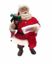 Coca-Cola  Kurt Adler 2017 Fabriche Santa with Coke and Stocking- BRAND NEW - $89.09
