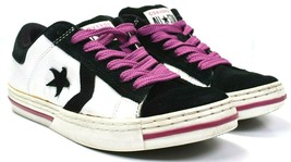 Women's Converse All Star Black Purple Suede Leather Shoes Sneakers Size 7.5 - $34.64