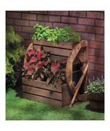 Western Wagon Wheel Double-Tier Country Planter Garden, Patio Decor - $76.39
