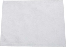 PEGGY WILKINS WHITE SILVER SNOW CRYSTAL TABLECLOTH CHRISTMAS 53X88IN - $34.11
