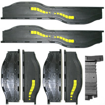 4pc 1981 Aurora Speedsteer Ho Slot Less Car Hazard Canyon BY-PASS Track 6057 Nos - $19.79