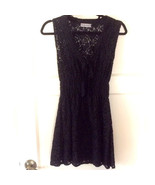 NEW NWT Millau LF Stores Elegant Black Floral Lace Long V Neck Top $138 ... - $18.00