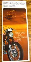 1970 Harley-Davidson ORIGINAL Sprint SS350 Brochure Xlnt - $15.97
