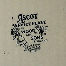 Ascot Service Plate by Wood and Sons  AA20- CP2238 Vintage image 5
