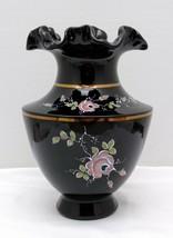 "Fenton Copper Rose Hand Painted 7"" Vase - $35.00"