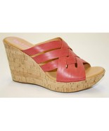 Women's Shoes KORKS Kork-Ease KATRICE Wedge Sandals Leather Red - $53.99