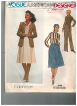 1619 Vintage Vogue Couture Motif Femmes Veste Chemise Jupe Pantalon Calv... - $10.00