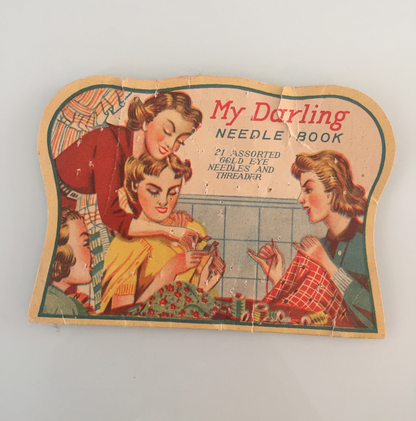 "Vintage 40s Rare ""My Darling"" needle book"