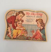 "Vintage 40s Rare ""My Darling"" needle book image 1"