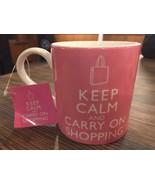 Keep Calm and Carry On Shopping Pink Coffee Mug Tea Cup 12oz Home Essent... - $11.83