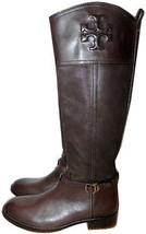 $495 Tory Burch Simone Riding Boot Tall Flat Equestrian Bootie 9.5 Brown... - $259.91