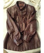 Stylish Vintage Burgundy Berman's Leather Jacket - $90.00