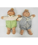 2 1985 Vintage Cabbage Patch Kids Bald, Blue eyes & Green Eyes with Outf... - $37.40