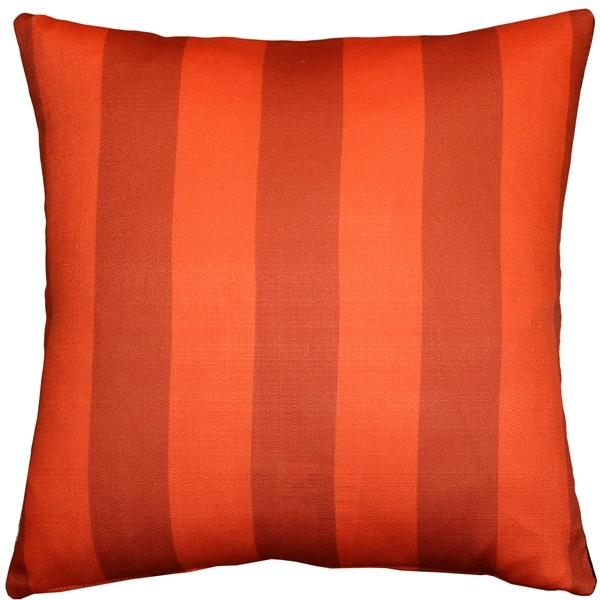 Pillow Decor - Orange Poppy 20x20 Throw Pillow